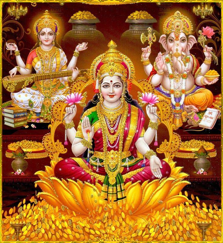Shri Lakshmi Devi, Saraswati Devi, Ganesh ॐ