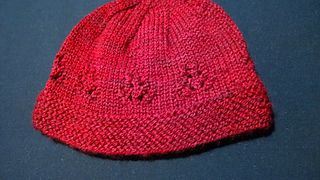 Maile Beanie   free baby knitting pattern
