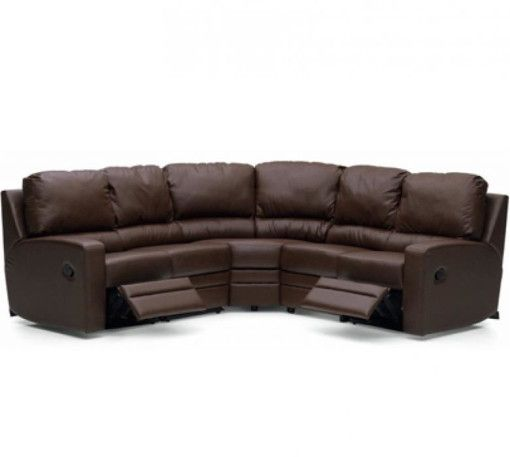 Palliser Acadia Leather Reclining Sectional With Optional Sleeper : Colliers  Furniture Expo