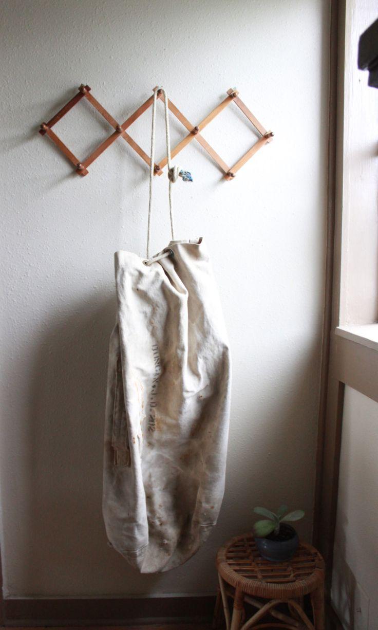 vintage canvas drawstring bag (58.00 USD) by experimentalvintage