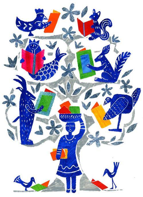 bibliolectors:    A special librarian / Una bibliotecaria muy especial (ilustración de Eleonora Arroyo)