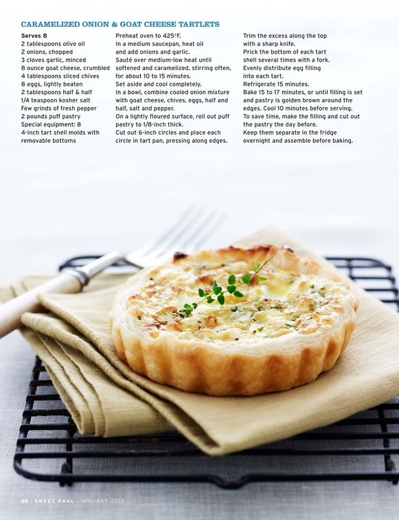 caramelized onion & goat cheese tartlet | Mmm food | Pinterest