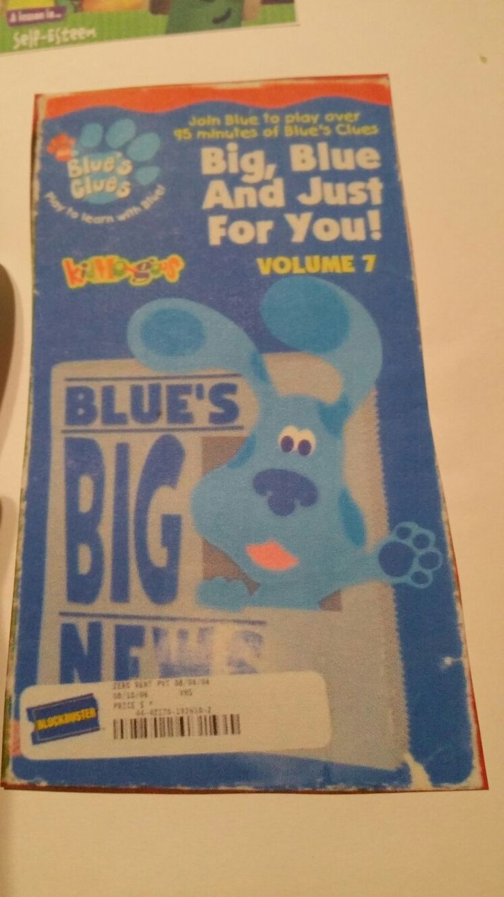 Blue S Clues Big Blue And Just For You Volume 7 Blues