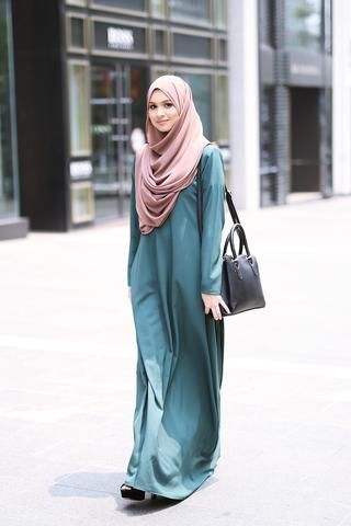 Basic Dress Teal Green///  ❤❤♥For More You Can Follow On Insta @love_ushi OR Pinterest @ANAM SIDDIQUI ♥❤❤