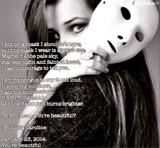 You're Beautiful. #poets #victoriacaroline  #deadpoetsociety #yourebeautiful