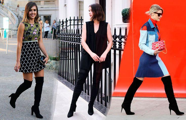 6 Τρόποι να φορέσεις Μπότες πάνω από το Γόνατο το 2016   Woman Oclock