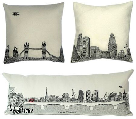 Charlene Mullen contemporary London cushions at Aram