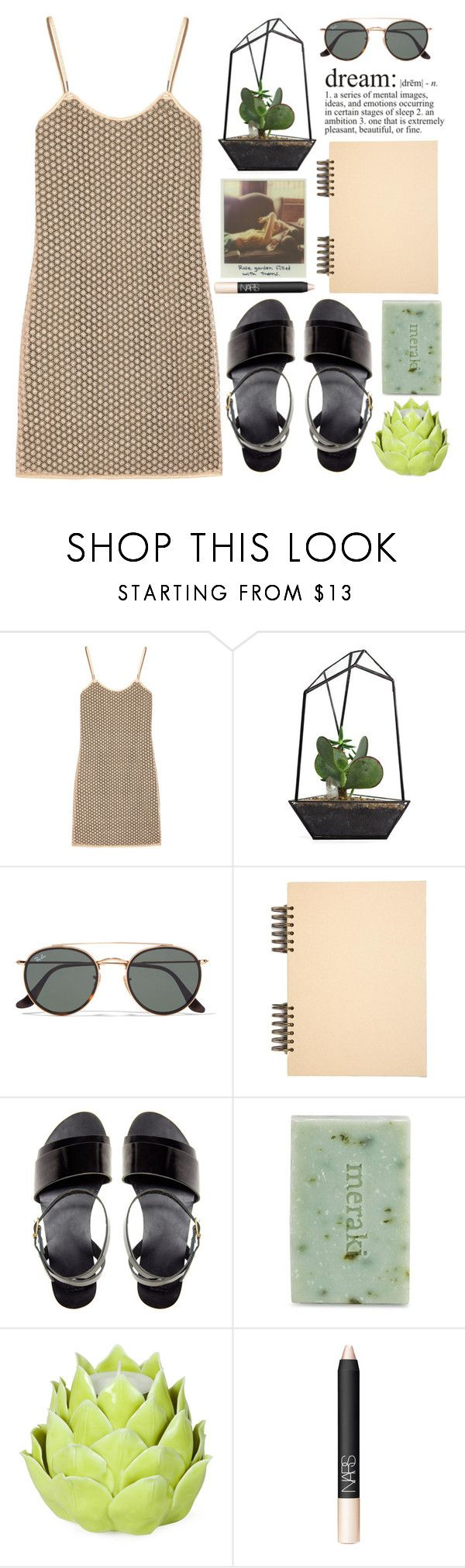 """""""Wunderkind"""" by miss-magali-mnms ❤ liked on Polyvore featuring Diane Von Furstenberg, Ray-Ban, ASOS, Meraki, Zara Home and NARS Cosmetics"""