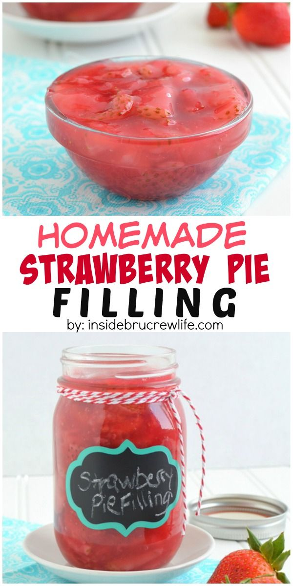 This homemade strawberry pie filling is easy to make on the stove top and has a delicious homemade taste.  Perfect for cakes, pies, and pastries.