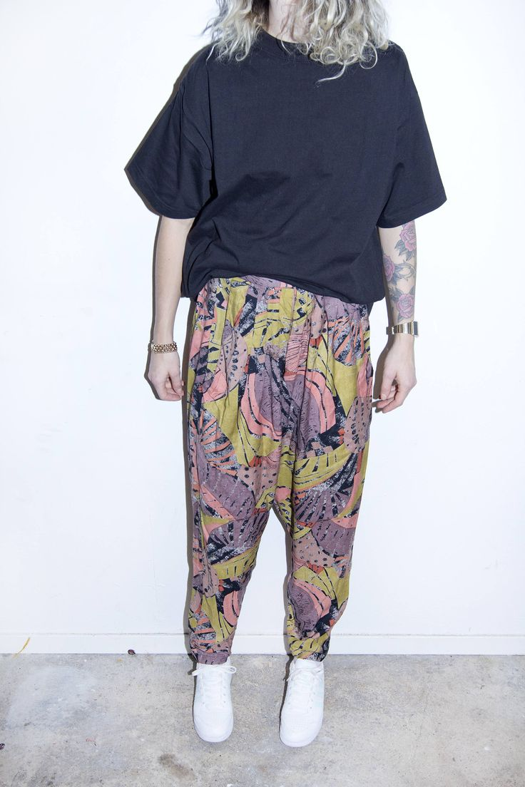 Fresh Prince MC Hammer Pants 80s / 90s Hip Hop Era Relaxed Harem Style Abstract Retro Jungle Fever by BananiFashion on Etsy