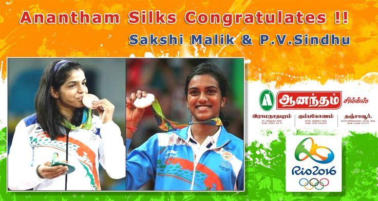 Anantham Silks Congratulates P.V.Sindhu & Sakshi Malik