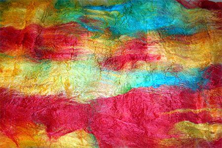 tutorial - silk fusion using textile medium