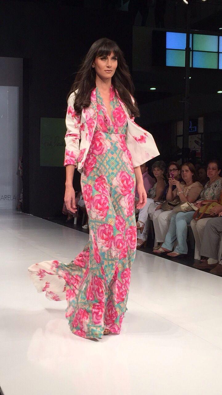 Juliana Roldán vestido floral seda natural