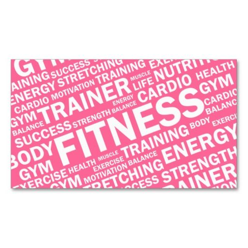 297 best fitness trainer business cards images on pinterest personal trainer fitness business card accmission Gallery