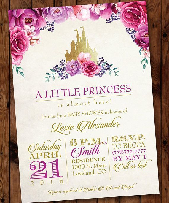 Princess Baby Shower Invitation Little Princess Invitation Baby