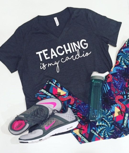 Teaching Is My Cardio Tee by MadisonMarketDesigns on Etsy