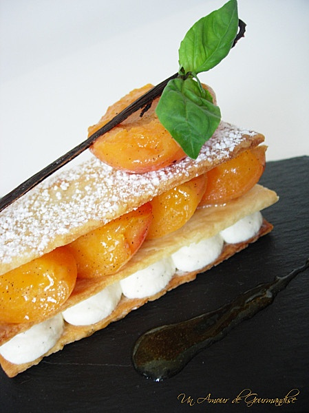 Millefeuille abricots