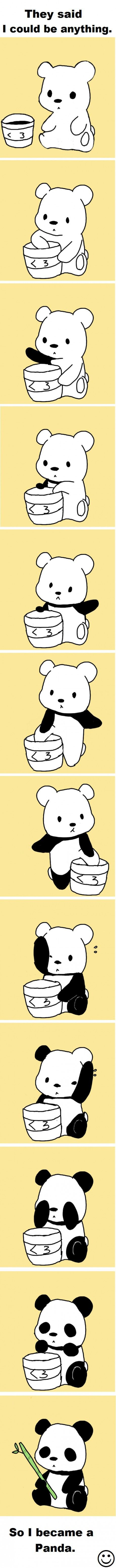 They said I could be anything...: Laughing, Stuff, Funny Pictures, Random, Pandas Bears, Adorable, Humor, Smile, Animal