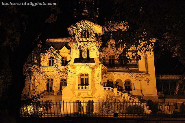 Kretzulescu Palace at the edge of Cismigiu Park, Bucharest, Romania
