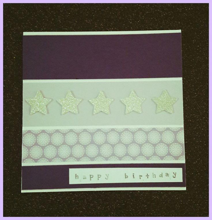 Handmade birthday card with star design #handmadecards #birthdaycard #stars
