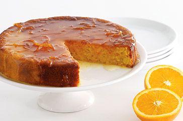 Κέϊκ+Πορτοκαλιού+με+γλάσο+πορτοκαλιού