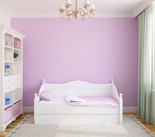 Associada a criatividade, o roxo é perfeito para pintar quartos, quartos de brinquedos, escritórios e áreas de lazer.