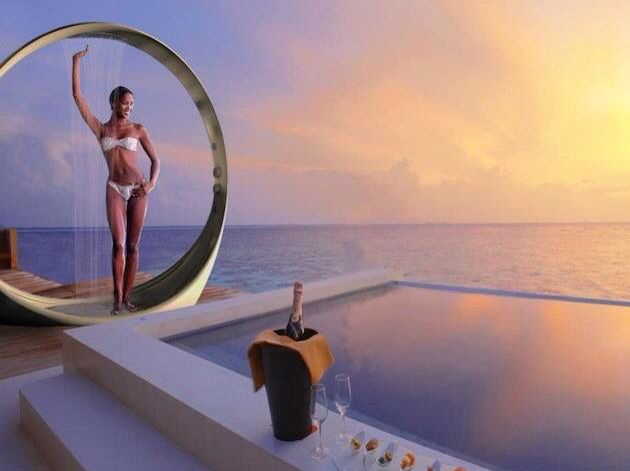 Multi Sensory Water Experience Outdoor Shower System LOOP By Idiha Design