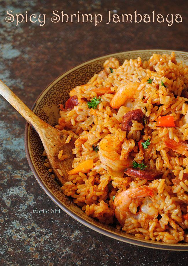 One-Pot Spicy Shrimp Jambalay