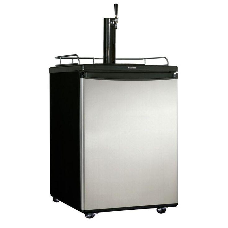 Danby 1/2 Keg Beer Dispenser, Spotless Steel