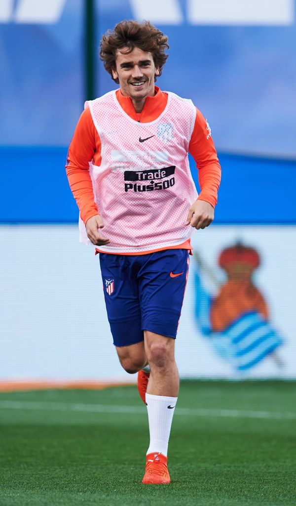 95bc5ff8b Antoine Griezmann of Atletico Madrid warms up during the La Liga ...