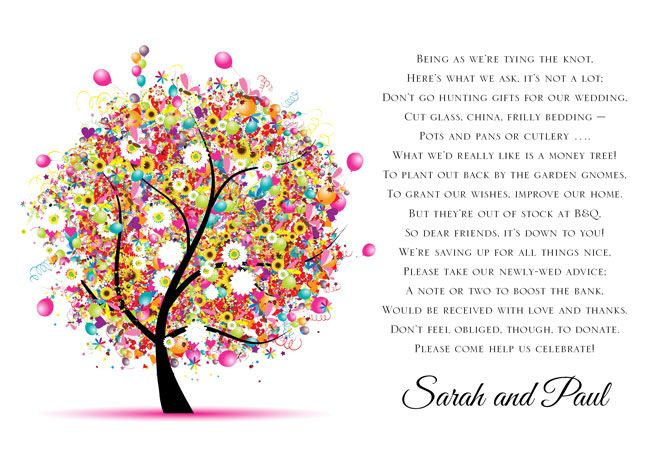 gift poem wedding quotes wedding cards surprise wedding wedding gifts ...