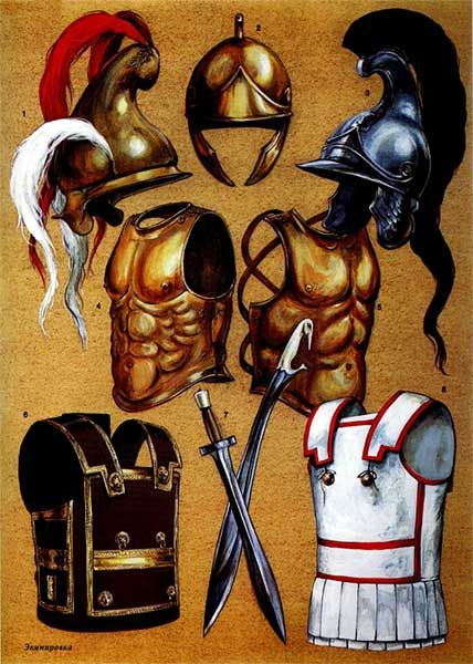 Tipologie di armature e elmi utilizzati dall'esercito macedone, IV-III secolo a.C.