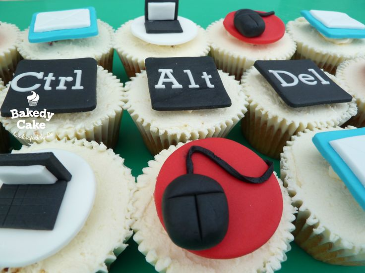 IT or Computer Themed Cupcakes by Bakedy Cake. They were the perfect thing for an IT guy's leaving do :-)