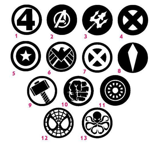 "Marvel Decal Sticker, car decal $5.00+ 4""+"