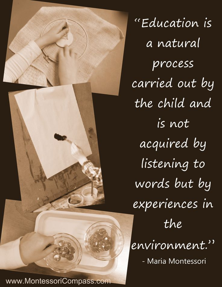 Quote by Maria Montessori. Even though I think some of her philosophy is a little out there, I love this quote