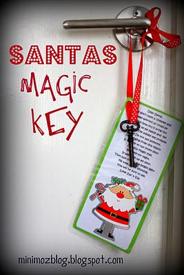 santas magic key ~ if you don't have a chimneyHoliday Ideas, Christmas Keys, Santa Christmas, Magic Keys, Santa Keys, Favorite Holiday, Christmas Decor, Merry Christmas, Santa Magic