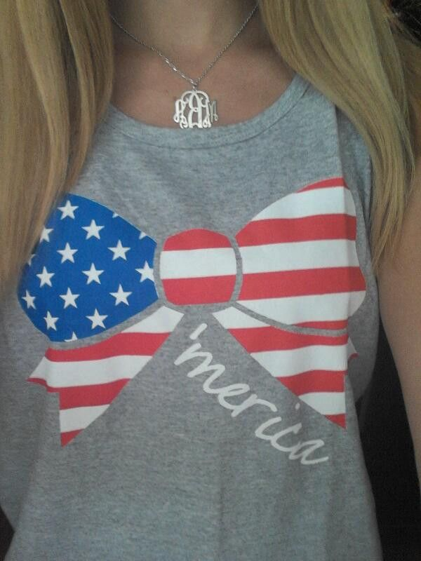 American Flag Bow Tank Top for the 4th of July