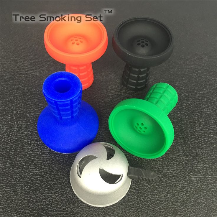 1pc Eddy Water Silicone Bowl And 1pc Frosted Silver  Charcoal Rack Water Sand Hookah Smoke Smoking Pipe Single Handle Black