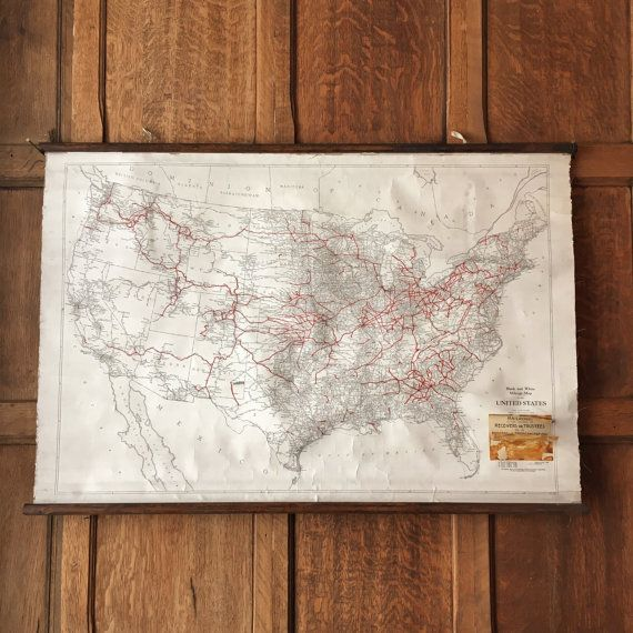 Best Pull Down Map Ideas On Pinterest Vintage Map Decor - Roll up map of us