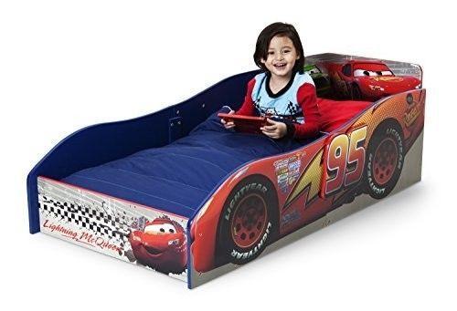 Disney Toddler Bed Cars Bedroom Furniture Kids Boys Mcqueen Children Pixar Race #Disney