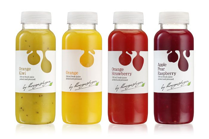 Hoogesteger Fresh Juice  Great labels and great fruits makes everyone want this packaging. PD