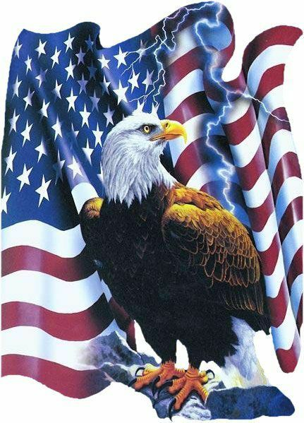 patriotic gif images | American patriotic clipart bald eagle symbol with the American Flag ...