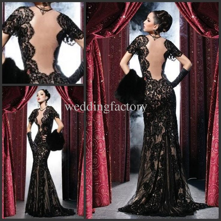 Cheap Wedding Dress - Discount Sexy Black Lace Dress Backless Hot Prom Dresses Online with $155.76/Piece | DHgate