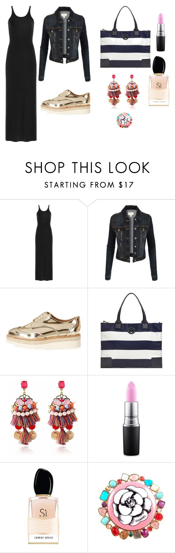 """""""mix and match"""" by janka-dzurillova on Polyvore featuring T By Alexander Wang, LE3NO, River Island, Tory Burch, MAC Cosmetics, Giorgio Armani and Chanel"""
