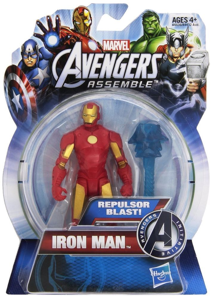 Iron Man Red/Gold Repulsor Blast Avengers Assemble All-Star Action Figure  #Hasbro