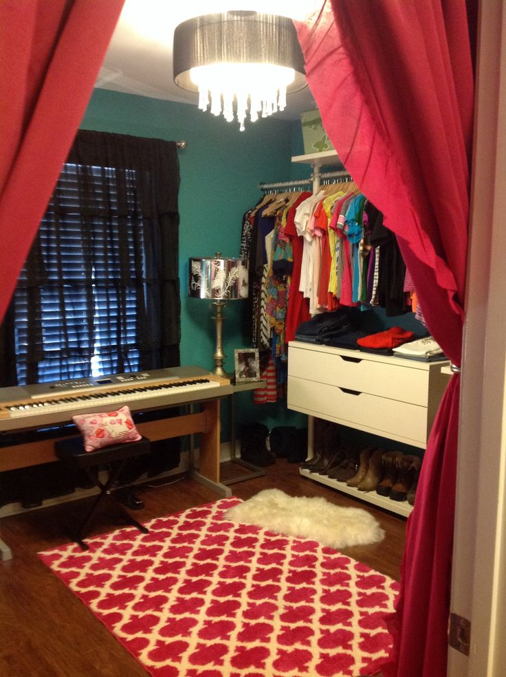 My dressing room. This was an extra bedroom in my house