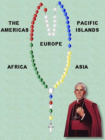 World Mission Rosary, designed by Venerable Archbishop Fulton Sheen