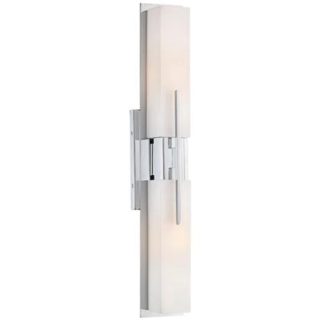 Possini euro design midtown 23 1 2 high chrome bath light for Bath bar light fixture