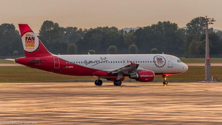 "AirBerlin Airbus A320-214 D-ABFK ""Bitburger FanForce One"" Livree"