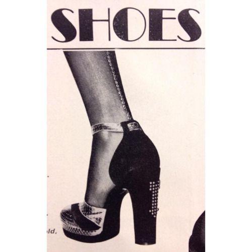 Dream shoes by Terry De Havilland from Vogue 1972….check out the Diamanté arrow ⬅️✨
